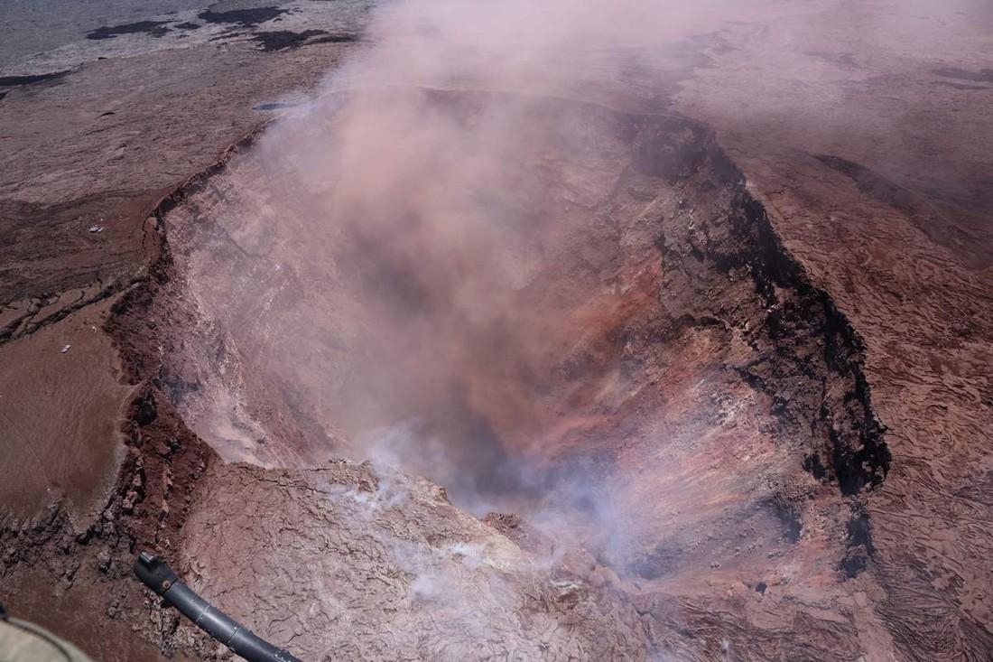 Турист упал в кратер вулкана на Гавайях
